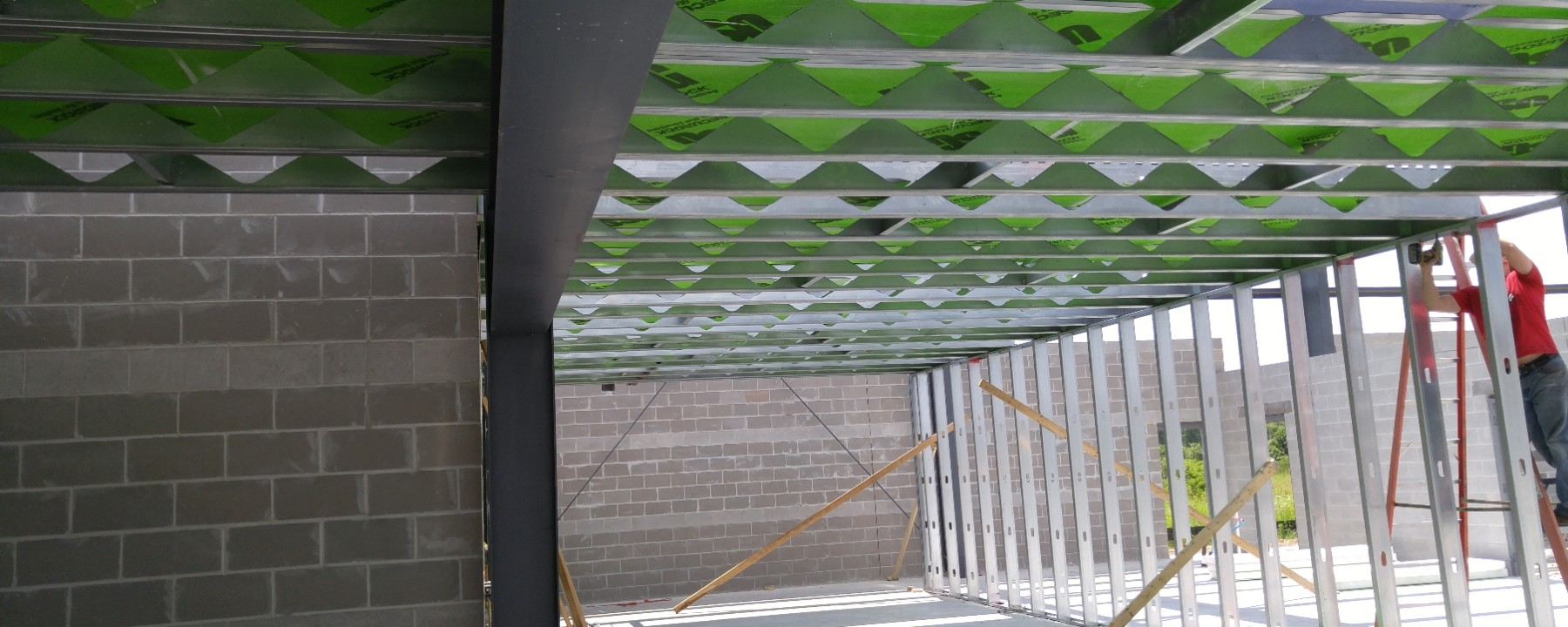 Project: 5 Diamonds Mezzanine | FORTECO Lightweight Composite Framing Can be Supported using Simple Metal Studs