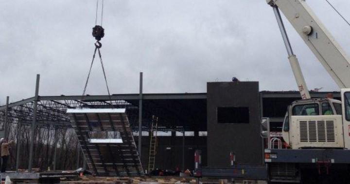 Good Harvest Market Tilt Up Walls Construction - FORTECO Composite Framing System